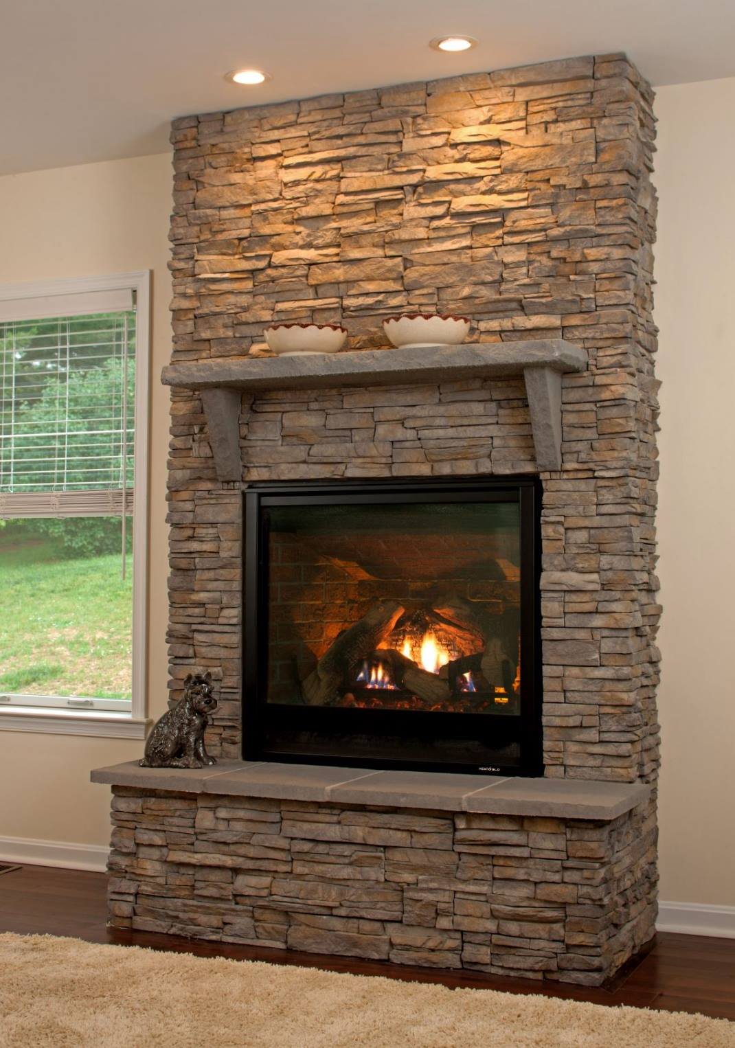 Natural Stone Fireplaces Wall To